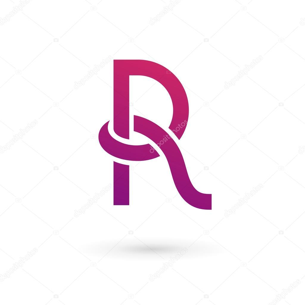 Letter R logo icon design template elements - Ilustração de Stock
