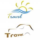 Travel two logos — Stock Photo