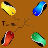 Mouses team work — Stock Photo