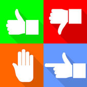 Set of hand icons — Stock Vector