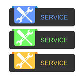 Service buttons — Stock Vector