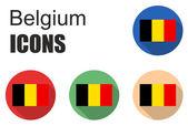 Set flat icons belgium — Stock Vector