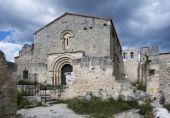 Ruined medieval church — Stock Photo