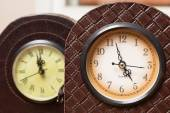 Two antique clocks — Stock Photo