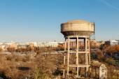 Old water tanks in Madrid, Spain — Stock Photo