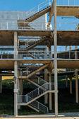 Columns and stairs Planetarium Madrid, Spain — Stock Photo
