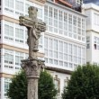 Typical Galician stone cross in a square in Ferrol — Stock Photo #58743743