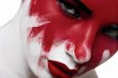 Halloween fashion beauty makeup — Stock Photo