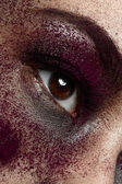 Macro purple Makeup — Stock Photo