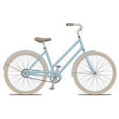 Blue Bike Vector Illustration — Stock Vector
