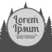 Vector wood Service Emblem — Stock Vector