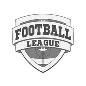 Design of white Football Label — Stock Photo