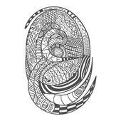 Drawing decorative Snake Pattern — Stock Photo