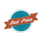 Vintage Label - best Price — Stock Photo