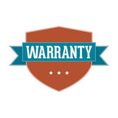 Vintage Label - Warranty — Stock Photo
