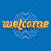 Welcome - hand Lettering Text — Stock Vector