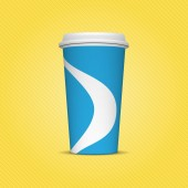 Blue and white Paper Cup Template for Drinks — Stock Photo