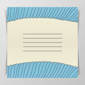 Striped blue wave Cover for Notebook — Stock Photo