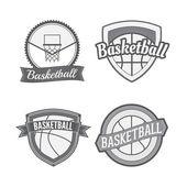 Set of Basketball vintage Labels — Stock Vector