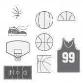 Set of Basketball vintage Design Elements — Stock Vector