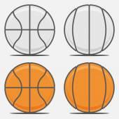 Basketball Balls for your Team Logo — Stock Vector