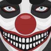 Evil Clown smiling Face — Stock Photo