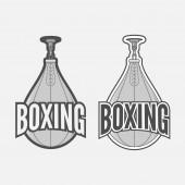 Punching Boxing Bag Labels Set — Stock Photo