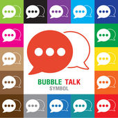 Bubble talk Symbol icon. vector illustration. Speech bubble icons on white background. — Stock Vector