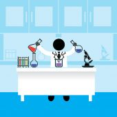 Значок человека ученого. Цвет значков заданий — Cтоковый вектор