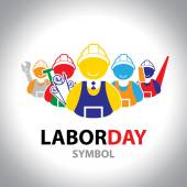 Labor symbol icon. Vector design. Labor day concept — Stock Vector