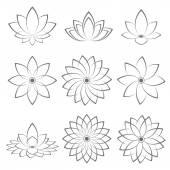 Lotus Symbol icon design. Vector illustration — Stock Vector