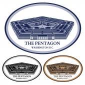Pentagon. gedetailleerde illustratie vector — Stockvector