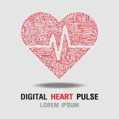 Heart Pulse icon. Heart Rate Icon. Vector Illustration — Stock Vector