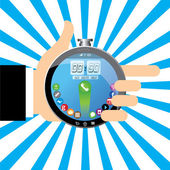 Smart timer, Stop watch, vector illustration — Stock Vector