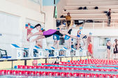 PERM REGION CHAMPIONSHIP SWIMMING — Stock Photo