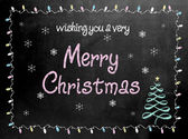Merry Christmas blackboard chalkboard sign — Stock Photo