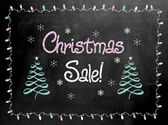 Blackboard or Chalkboard sign with the words Christmas Sale — Stock Photo