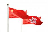 China and Hong Kong flags — Stock Photo