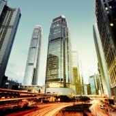 Night Traffic Hong Kong — Stock Photo