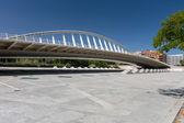 Pedestrian bridge over the park in Valencia. — Foto Stock
