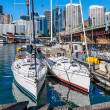 Two sailboats in the harbor of Sydney — Stock Photo #56850661