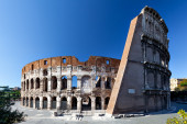 Rear view of the Colosseum — Stock Photo