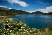 Lake of Campotosto — Stockfoto