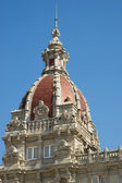 Detail of the town hall of La Coruna — Stock Photo