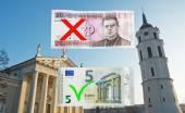 Lithuania switches to Euro — Stock Photo