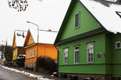 Housing characteristics of Lithuania and Trakai. — Stock Photo