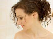 Portrait in the bath — Stock Photo