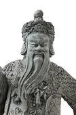Statue China in Emerald Buddha bangkok thailand isolated on whit — Stock Photo