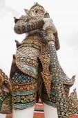White Giant Guardian in Wat Phra Kaew temple ,bangkok,thailand — Stock Photo