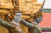 Giant Guardian in Wat Phra Kaew temple ,bangkok,thailand — Stock Photo